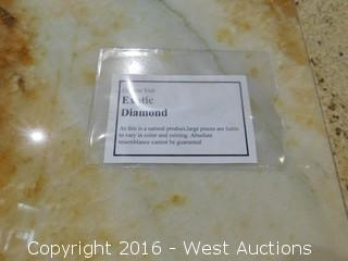 "(1) 28"" x 8' Exotic Diamond Granite Slab"