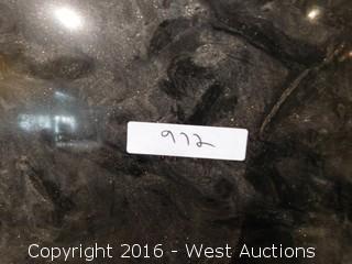 "(1) 8' x 28"" Black Materix Granite Slab"