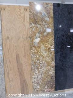 "(1) 8' x 26"" Golden Canyon Granite Slab"