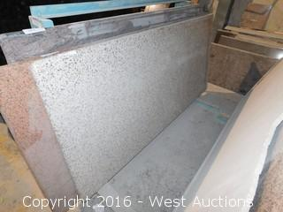 "(1) 78"" X 3' Pre-Fabricated Granite Countertop"