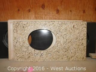 "(1) 41.5""x23"" Granite Vanity Sink Countertop"