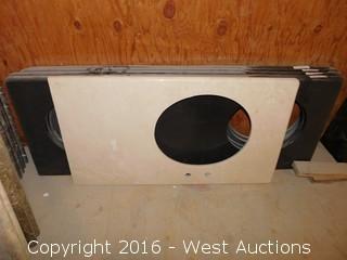 "(1) 43-3/4""x23.5"" Granite Vanity Sink Countertop"