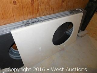 "(1) 43-3/4""x23.5"" Granite Vanity Sink Countertop"