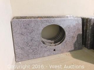 "(1) 44""x23"" Granite Vanity Sink Countertop"