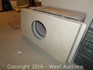 "(1) 47""x23"" Granite Vanity Sink Countertop"
