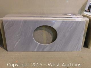 "(1) 54""x23"" Granite Vanity Sink Countertop"