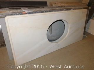 "(1) 50.5""x23"" Granite Vanity Sink Countertop"