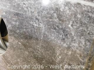 "(1) 50.5""x23"" Granite Vanity Sink Countertop"