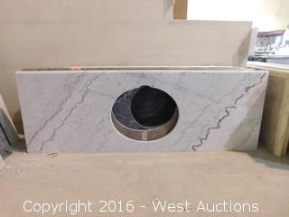 "(1) 65""x23"" Granite Vanity Sink Countertop"