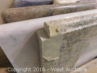 """(1) 62""""x23"""" Granite Vanity Dual Square Sink Countertop"""