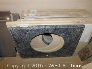"(1) 32""x23"" Granite Vanity Sink Countertop"