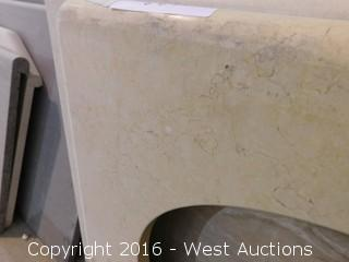 "(1) 27""x23"" Granite Vanity Sink Countertop"