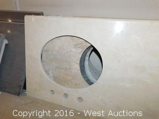 "(1) 42""x23"" Granite Vanity Sink Countertop"