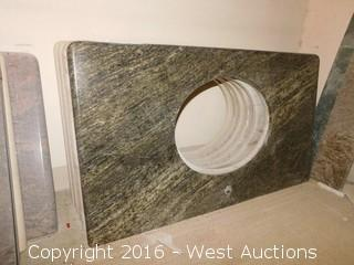 "(1) 38""x23"" Granite Vanity Sink Countertop"