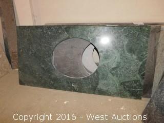 "(1) 46""x23"" Granite Vanity Sink Countertop"