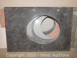 "(1) 34""x23"" Granite Vanity Sink Countertop"