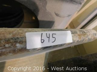 "(1) 40""x23"" Granite Vanity Sink Countertop"