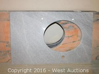 "(1) 35.5""x23"" Granite Vanity Sink Countertop"