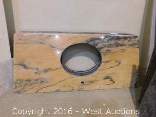 "(1) 50""x23"" Granite Vanity Sink Countertop"