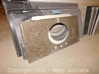 "(1) 37.5""x19"" Granite Vanity Sink Countertop"