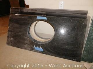 "(1) 48""x23"" Granite Vanity Sink Countertop"