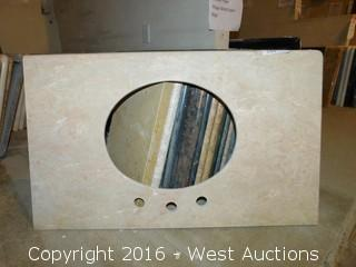 "(1) 37.5""x22"" Granite Vanity Sink Countertop"