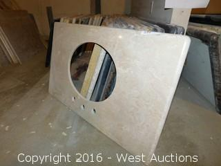 "(1) 37.5""x22"" Granite Vanity Sink Countertop"