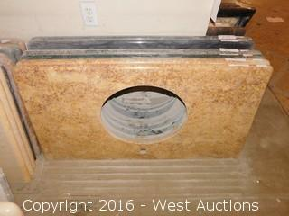 "(1) 44""x22"" Granite Vanity Sink Countertop"