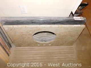 "(1) 44""x20"" Granite Vanity Sink Countertop"