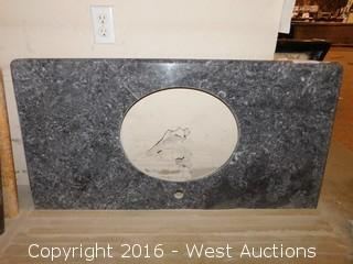 "(1) 44""x22"" Granite Vanity Sink Countertop"