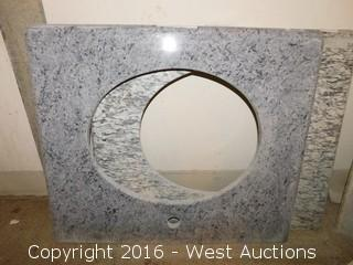 "(1) 26.5""x22"" Granite Vanity Sink Countertop"