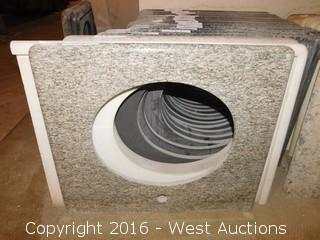 "(1) 27""x22.5"" Granite Vanity Sink Countertop"