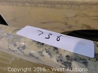 "(1) 34""x22.5"" Granite Vanity Sink Countertop"