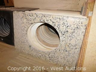 "(1) 34""x22.5"" Granite Vanity Sink Countertop"