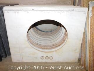 "(1) 29.5""x22.5"" Granite Vanity Sink Countertop"