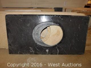 "(1) 45""x22"" Granite Vanity Sink Countertop"