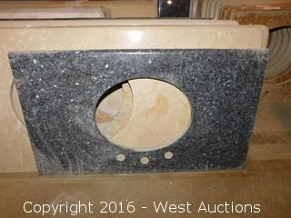 "(1) 30""X20"" Granite Vanity Sink Countertop"