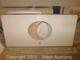 "(1) 50.5""x22"" Granite Vanity Sink Countertop"