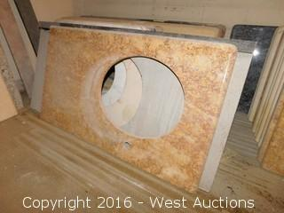 "(1) 39""x22"" Granite Vanity Sink Countertop"