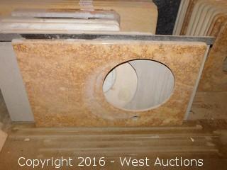 "(1) 39""x22"" Granite Vanity Sink Countertop"