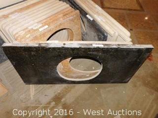 "(1) 48""x22"" Granite Vanity Sink Countertop"