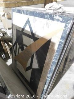 "(1) 3' x 4"" Granite Mosaic Inlay"