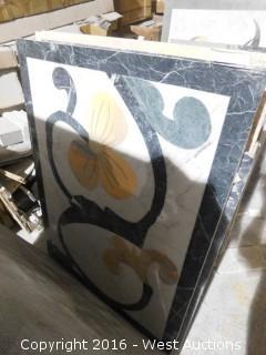 """(1) 3' x 4"""" Granite Mosaic Inlay"""
