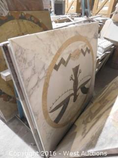 (1) 3' x 3' Granite Mosaic Inlay
