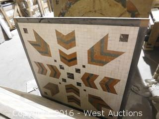 (1) 3' x 3' Granite Mosaic Inlay