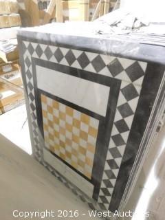 (1) 3' x 4' Granite Mosaic Inlay