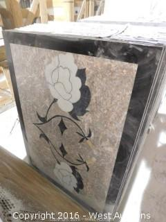 (1) 3' x 4' Granite Mosaic Inlay