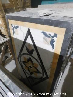 (1) 3' x 5' Granite Mosaic Inlay
