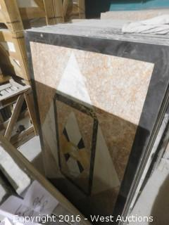 (1) 3' x 5' Granite Mosaic Inlay