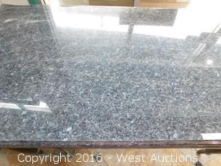 """(1) 40"""" x 76"""" Granite Top Table"""